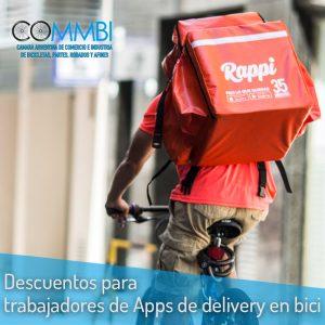 Descuentos para trabajadores de Apps de delivery en bici