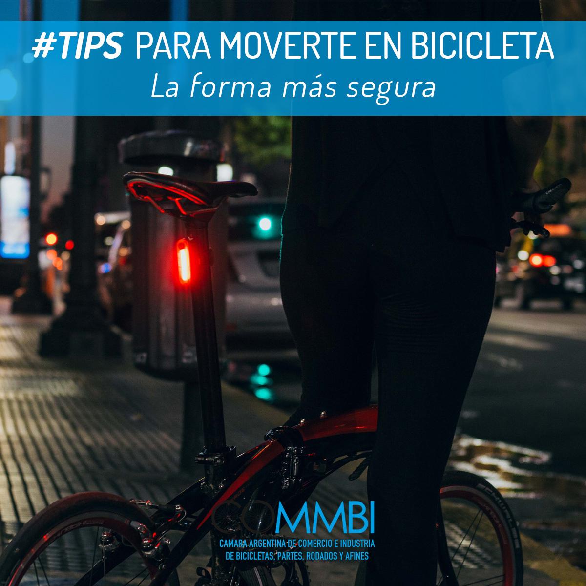 Tips para moverte en bicicleta: Luces