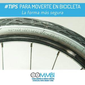 TIPS para moverte en bicicleta: Neumáticos