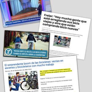 El boom de la bici en la calle y en los medios de comunicación