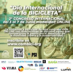2º Congreso online por el Día Mundial de la Bici: a realizarse entre el 3 y el 7 de junio
